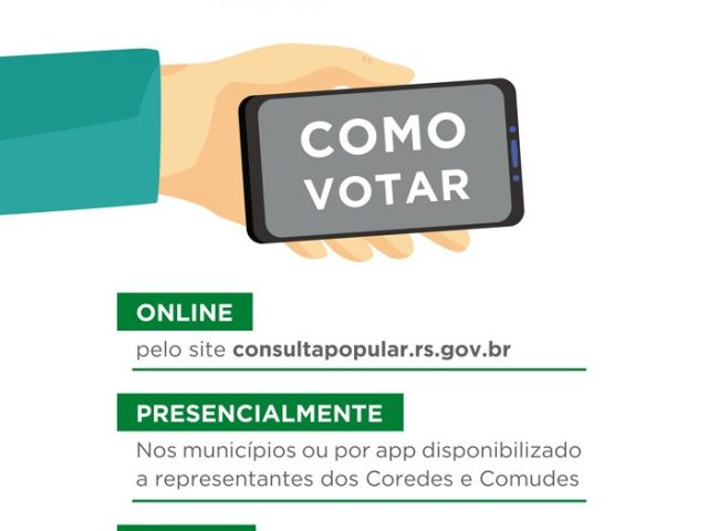 Consulta Popular será dias 04, 05 e 06 no Estado